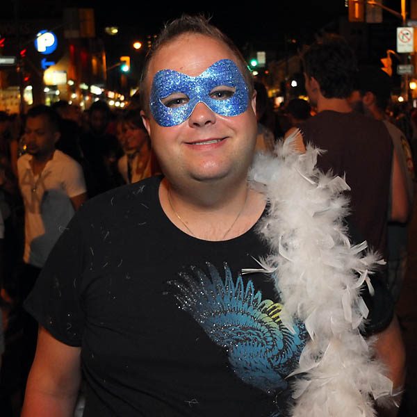 Blue Mask at Pride Toronto 2012