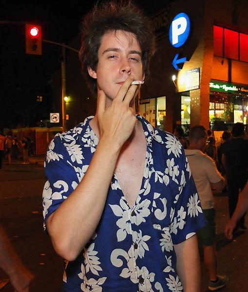 Smoking Guy at Pride Toronto 2012